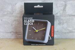 Kikkerland Small Square Travel Alarm Clock
