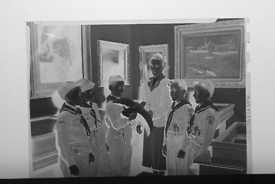 (2) B&W Press Photo Negative Little Boys Cub Scouts Fairview Bird Class T5502