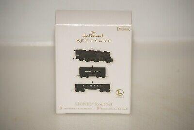 2010 Hallmark Miniature Lionel 3 Piece Scout Set