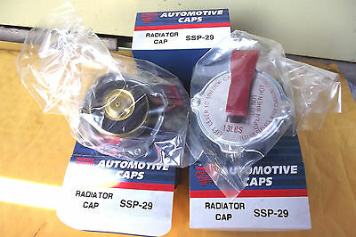 8 RADIATOR CAPS  SSP-29 ,QUALITY CAP WITH SAFETY VENT LEVER,13 LBS PRESSURE