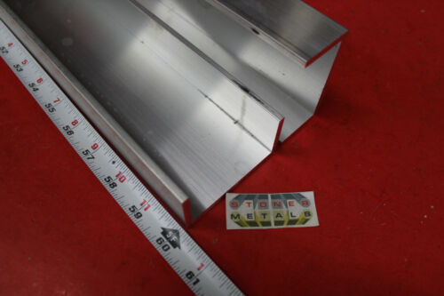 """2 Pieces 3"""" x 1-1/2"""" x 3/16"""" Wall 6061 T6 ALUMINUM CHANNEL 60"""" long Mill Stock"""