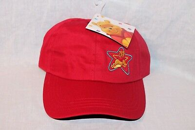 NEW  WITH TAG  WINNIE THE POOH  AND FREINDS KIDS RED  STAR CAP