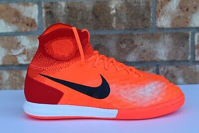 brand new 2143f 8c53d Men's Nike Magistax Proximo II IC Soccer Indoor Shoes Total Crimson 843957  805