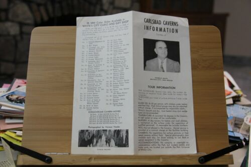 Vintage Carlsbad Caverns National Park New Mexico Informational brochure