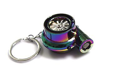 Rechargeable Electric Turbo Lighter keyring keychain LED light and BOV sound