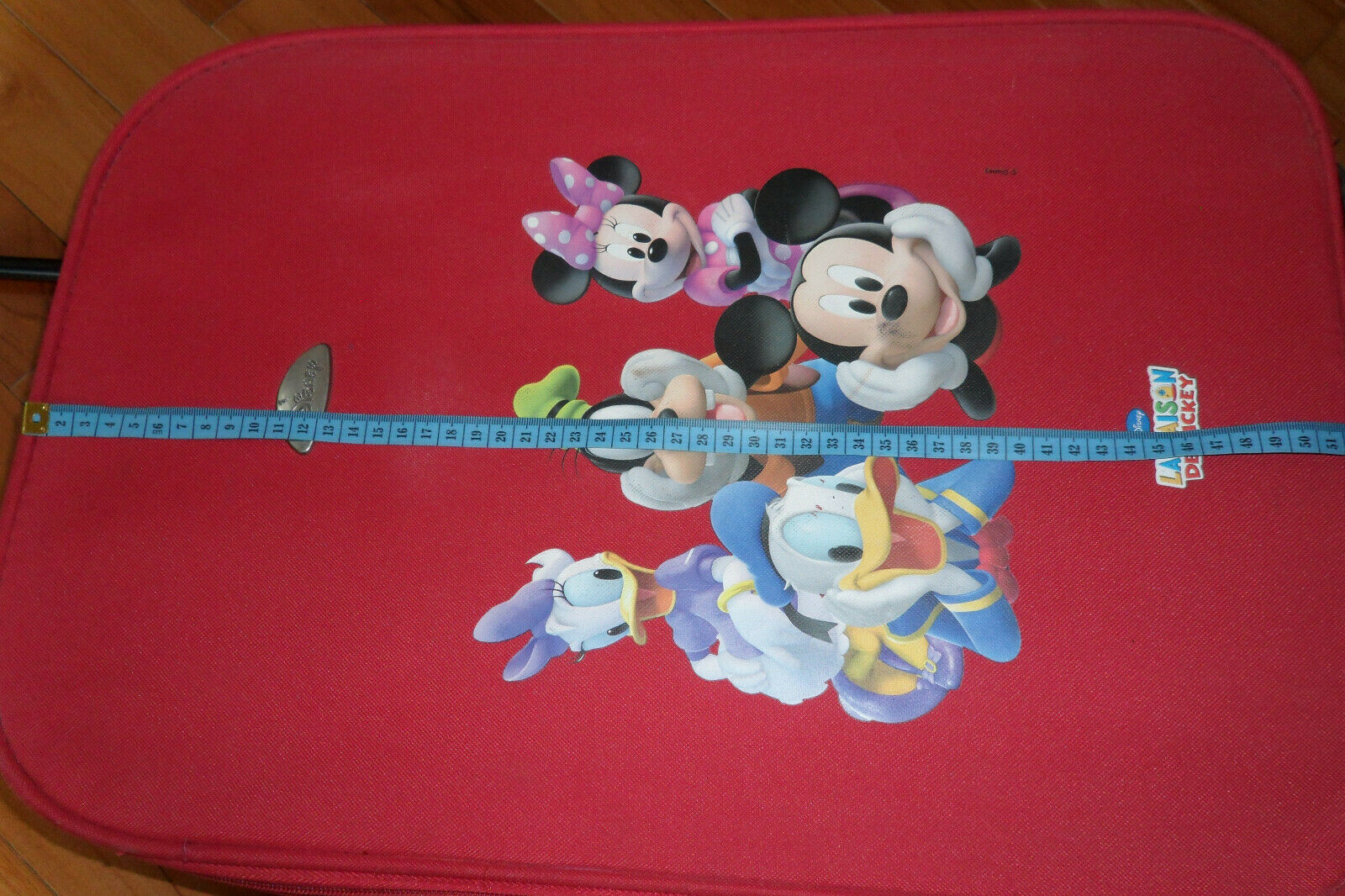 Disney valise trolley rouge la maison de mickey