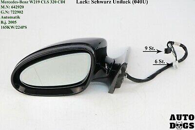 Außenspiegel Mercedes CLS W219 C219 Beheizbar links Schwarz 040U Spiegel