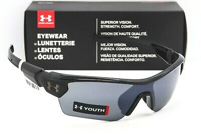 UNDER ARMOUR MENACE YOUTH SUNGLASSES Black / Silver Multiflection lens UA (Under Armour Sunglasses For Kids)