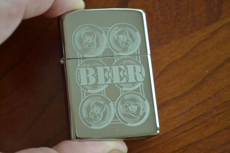 ZIPPO Lighter, 24720 - Six Pack of Beer Cans, Hi-Pol Chrome, 2010, Sealed, M1160