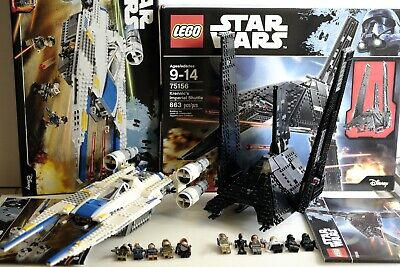 LEGO Star Wars Krennic's Imperial Shuttle 75156 + Rebel U-wing Fighter 75155 Set