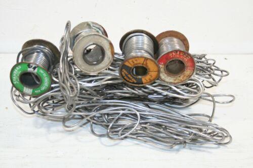Vintage Over 6.1 lb Solder Wire  mixed brands