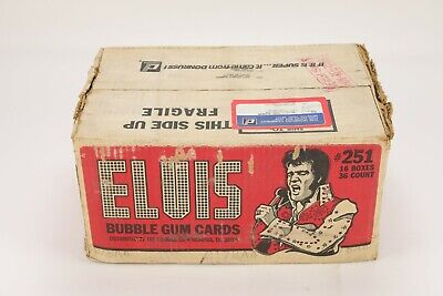 1978 Topps Elvis Presley Non-Sports Trading Cards Factory Sealed Case