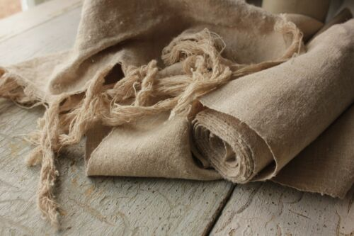 HEMP fabric antique linen 4.6yds PURE HEMP natural fabric organic material