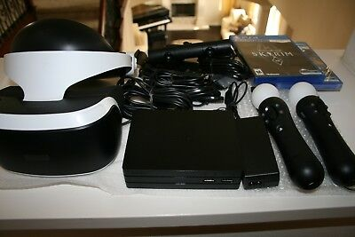 Sony PlayStation PS VR Headset Skyrim Bundle Move Controllers Camera CUH-ZVR2 PS