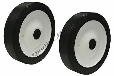 "200mm 8"" inch Lawnmower wheel, replacement rubber wheel, truck barrow - set of 2"
