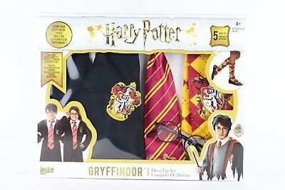 NEW Harry Potter Gryffindor Kids 5pc Dress Up Set Halloween Wizard Magic Costume