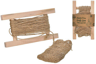 Plastic Free Wooden Crab Line With Bait Bag 10m Line Holidays Beach Seaside