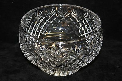 Lovely Vintage Cut Crystal Fruit/Salad/Serving Bowl Large
