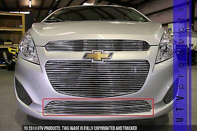 GTG 2013 - 2015 Chevy Spark 2PC Polished Bumper Billet Grille Grill Kit