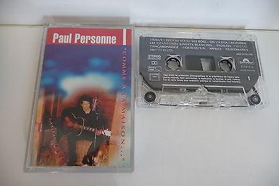 PAUL PERSONNE K7 AUDIO TAPE CASSETTE. COMME A LA MAISON...