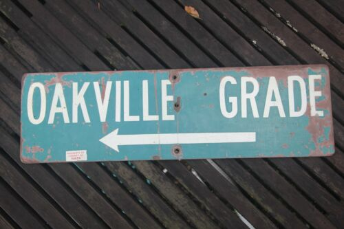 Rare Oakville Grade Napa Valley Wooden Sign Collectable Winery Item