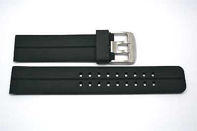 BLACK 22MM RUBBER SILICONE SPORT DIVER BUCKLE WATCH BAND STRAP FITS INVICTA