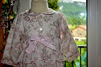 Robe baby dior rose ruban fleur adorable 6 mois plaque dior craquante