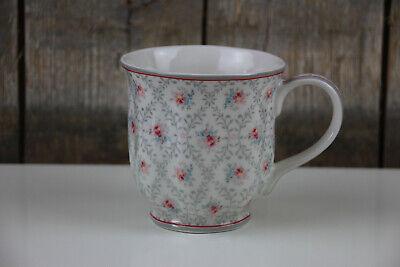 GreenGate - Tee / Kaffee Tasse - Daisy pale grey - zartes Blumen Muster - 250 ml