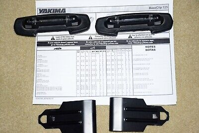 Yakima Base Bar Clip Pair BC125 for Baseline Towers Roof Rack System 8006185