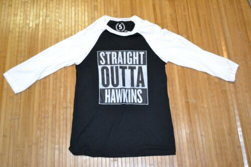 Straight Outta Hawkins Stranger Things T shirt SZ SMALL 3/4 Long Sleeves Womens