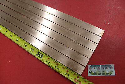 6 Pieces 18 X 34 C110 Copper Bar 16 Long Solid Flat Mill Bus Bar Stock H02