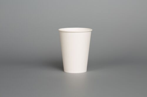 SINGLE WALL WHITE PAPER CUPS 16oz Coffee Tea Drinks Party Disposable SIP LIDS