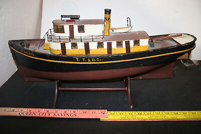 Tacoma Tug and Barge Tug Boat Fearless wooden handmade one of a kind
