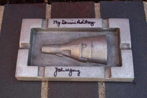 Original Astronaut John Young Signed Personal Project Gemini Capsule Ashtray