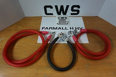 Farmall H Hv Battery Cable Set. 3 Cables. Switch Starter Ground. 0 Ga Cws