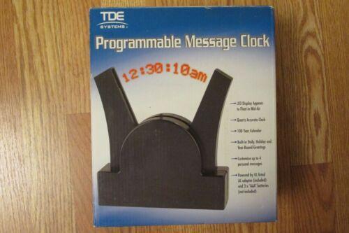TDE SYSTEMS Programmable Message Clock (Black) New