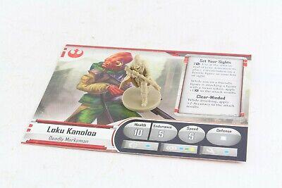 Star Wars Miniatures Loku Kanoloa Hero Imperial Assault Group Set