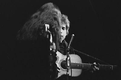 Bob Dylan with Joan Baez 4x6 Vintage 60's Photograph at folk concert #6B