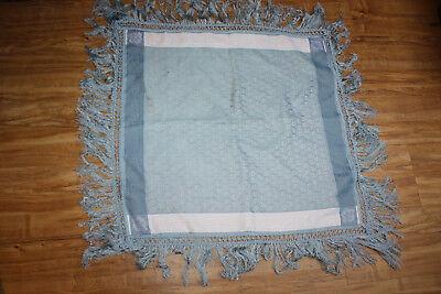 quadratische Tischdecke hellblau