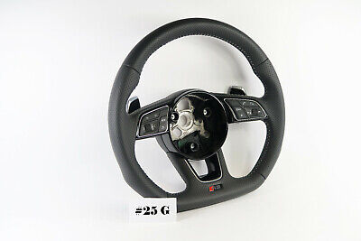 AUDI RS LINE A4 A5 S4 S5 Q5 SQ5 FLAT BOTTOM PERFORATED STEERING WHEEL #25G