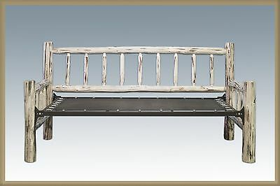 Rustic LOG Day Bed Twin Size Solid Wood Daybeds Amish Made Lodge Cabin Furniture
