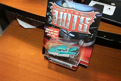 2007 Hot Wheels-Teal & White '56 Mercury Hot Rod  - Ultra Hots -Real Riders