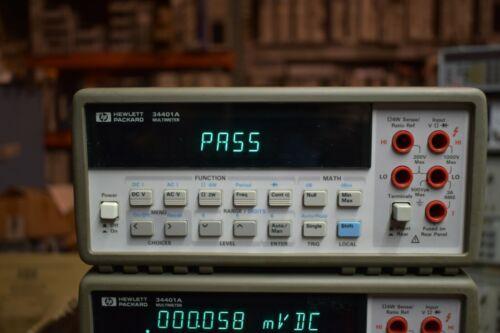HP 34401A 6 1/2 Digit Digital Multimeter Nice Shape