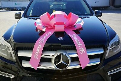 Giant Bows (Sweet 16 Car Bow, Giant Happy Birthday Magnetic Back Car Bow, Sweet 16 Big)