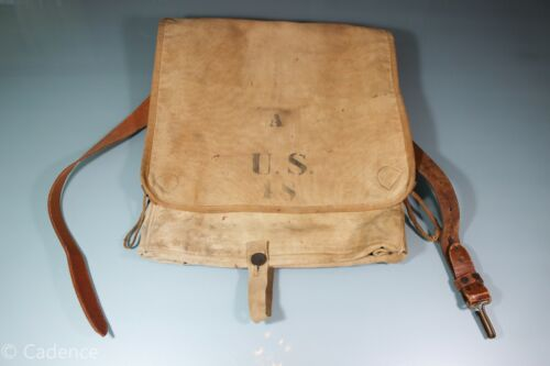 US Indian Wars M1878 Haversack Ruck Pack Unit Marked Rock Island Replaced Strap.
