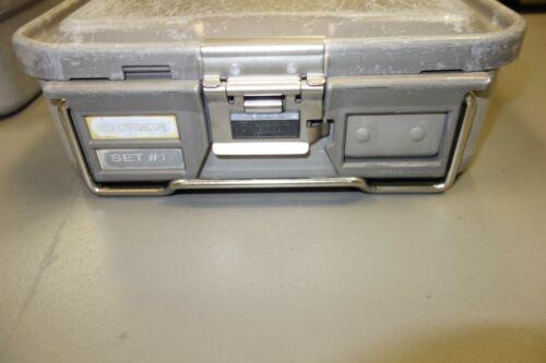 Aesculap JM740 Sterilization Container & Lid JM789 & Flash Pans Brown