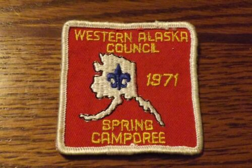 BOY SCOUT PATCH 1971 WESTERN ALASKA COUNCIL