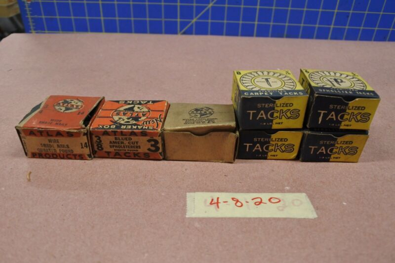 Misc Boxes Of Vintage Atlas Tacks