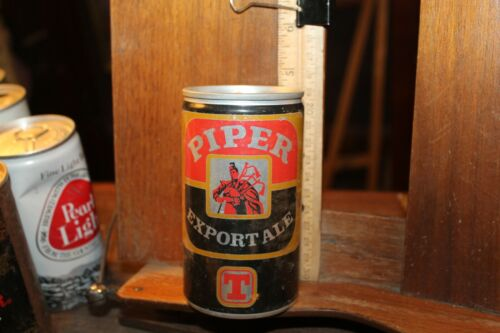 Vintage Tin Empty Beer Can Pull Tab Piper Export Ale Scotland