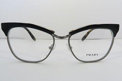 Prada Women's Black Glasses with case VPR 14S NAI-1O1 Journal 53mm